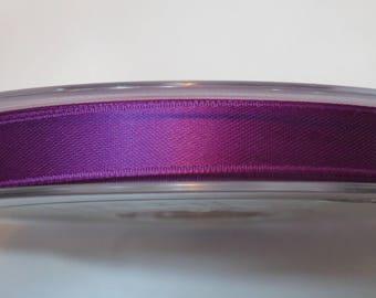 Double faced luxury 10 mm purple satin ribbon