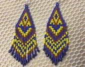 Earring maya art beads...