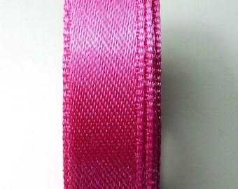 Ribbon satin 9 mm 5 yards Fuchsia 6 b