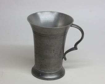 vintage 95% pewter cup / mug rein zinn Gegossen