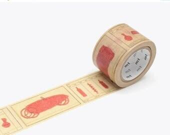ON SALE MT Washi Tape Philippe Weisbecker, Mt Tape, Japanese Washi Tape, Deco Tape, mt Masking Tape, Wide Washi Tape, Red  Washi Tape, 30 mm