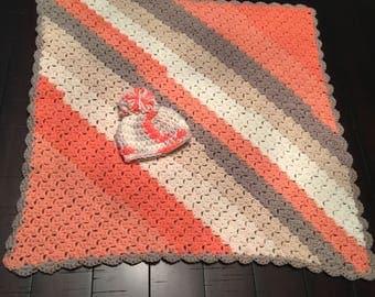 Peach Baby Blanket