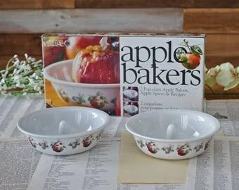 Vintage apple bakers 2 porcelain