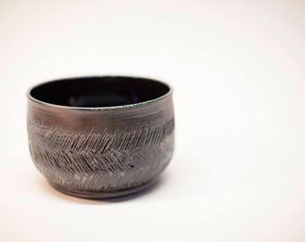 pottery bowl, ceramic bowl, serving bowl, stoneware bowl, salad bowl, earthenware bowl, carved bowl