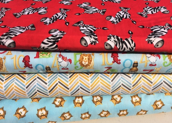 Items similar to abc 123 children 39 s fabric bundle fabric for Childrens fabric bundles
