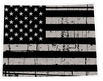 Wyoming State (N50) Distressed Flag Vinyl Decal Sticker Car/Truck Laptop/Netbook Window