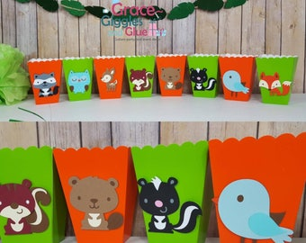 10 Woodland Favor/Snack Boxes