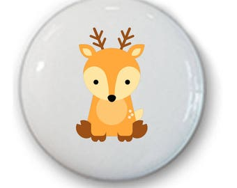 Woodland Drawer Knobs • Forest Animal Knobs • Drawer Pulls • Woodland • Hipster Woodland Knobs • Raindeer