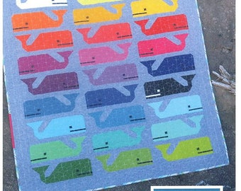 Preppy the Whale - Quilt Pattern from Elizabeth Hartman EH 014