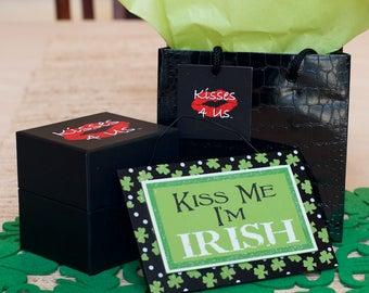 Kisses 4 Us®-St. Patricks Day Gift Idea for Him and for Her-Kiss Me I'm Irish-Irish Kisses