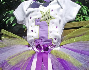 Purple and Gold Star 1st Birthday Outfit Gold Star Birthday 1st Birthday Shirt Gold Star 1st Birthday Outfit Gold Star 1st Birthday Onesie