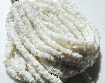 ON SALE 50% White Opal Heishi, Opal Beads, 4mm Beads, Heishi Spacer Bead, Heishi Beads, 8 Inch Half Strand