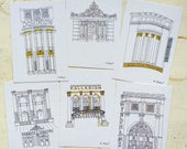 London West End Theatre notecards, set of 6