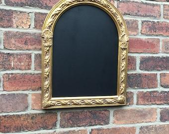 gold chalkboard ornate chalkboard menu vintage frame