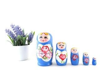 Vintage Matryoshka - Soviet Nesting Dolls - Russian Wooden Dolls - USSR Babushka - Soviet Vintage Dolls - Wooden Baboshka - Matryoshka Doll