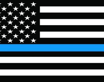 Fallen Officer Flag Beach Towel