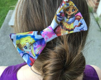 Sailor Moon Hair Bow, Hair Clip, Themed, Sailor Mercury, Venus, Mars, Anime, Geek, Manga, Hair Accessories, Comic Book, Dapper On Arrival