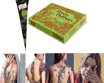 6 natural Henna Cones, 30 gm henna paste in a cone, Handmade henna cones, Hand rolled henna cones, wedding henna kit
