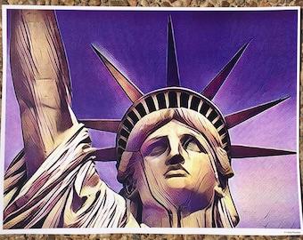 LADY LIBERTY graphic art print