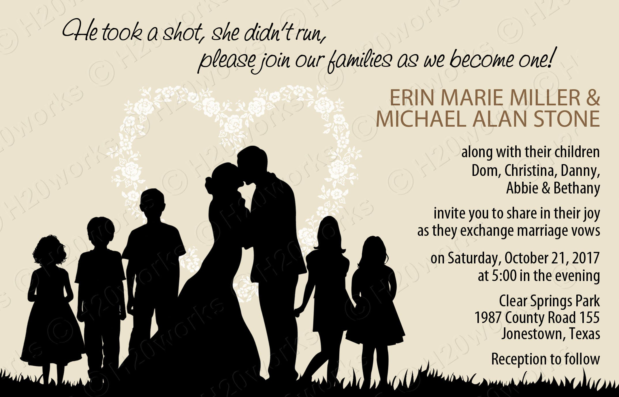 Blended Family Wedding Invitation - Blending, Stepfamily ...