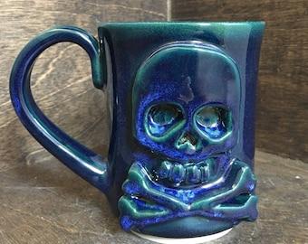 SECONDS Wheel Thrown Ceramic Skull Mug