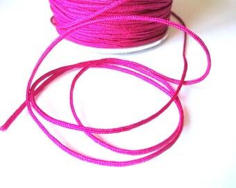 10 m fuchsia braided 1.5 mm nylon thread