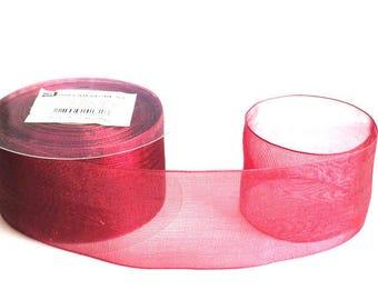 1 m 40mm Burgundy organza Ribbon