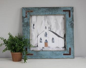 Giclee Print, Fine Art Print, Church Print, Abstract Art, Farmhouse Decor, Neutral Art