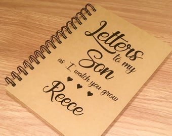 Letters to my son - letters to my daughter pad- personalised pad- kraft pad