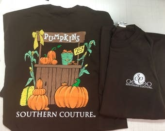 Southern Coutre fall punkin long sleeve shirt NEW!