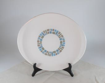 Really Cool Mid-Century Atomic Looking Platter By Canonsburg Pottery In Temporama Pattern