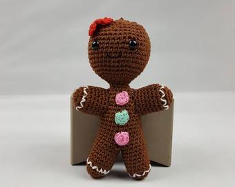 PDF DOWNLOAD - Gingerbread Man Gingerbread Lady Amigurumi Plushie Crochet Pattern