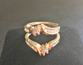 Diamond wedding band insert/wrap. 16 diamonds .70ctw