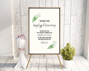 Printable Unplugged Ceremony Poster