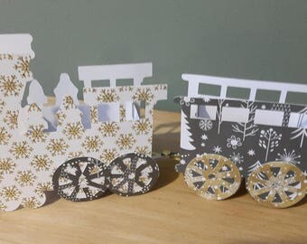 Train 3D - table Decoration - birthday - party