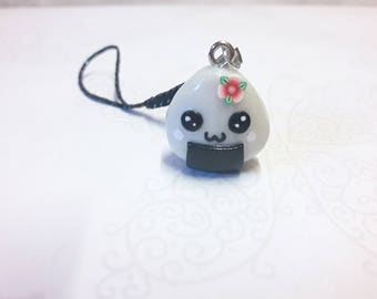 Small polymer clay kawaii Onigiri