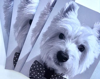 Fancy Westie Holiday Cards