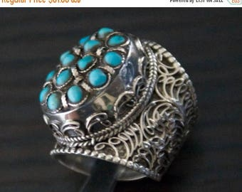 ON SALE Extraordinary Matchless Treasure, TURQUOISE Silver Ring