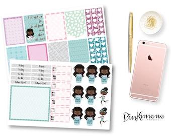 Cutie Pie Weekly Planner Sticker Kit | Erin Condren Planner Stickers | Any Planner Stickers