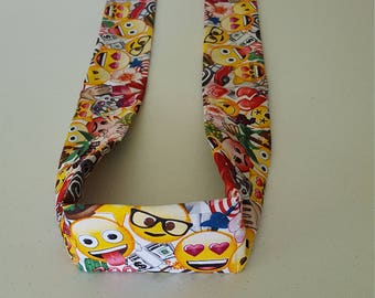 Handmade Cooling Wrap, Made With Emojis Fabric, Neck Cooler, Body Cooler, Cooling Scarf