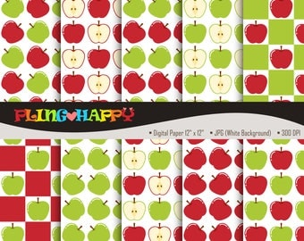 70% OFF Red And Green Apple Digital Papers, Red And Green Apple Digital Papers Graphics, Personal & Small Commercial Use, Instant Download