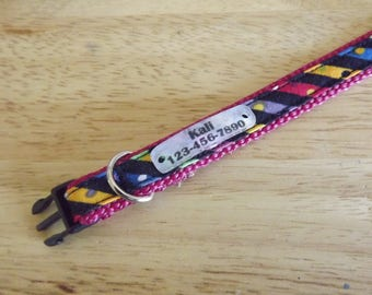 "Dog Collar & Quiet-Tag, adjustable from 9""- 13"" inches (22.86 - 33 centimeters)"