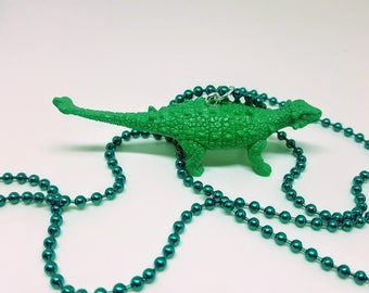 Dinosaur Necklace Green Ball Chain Green Dinosaur Jewelry Gifts 5 and Under