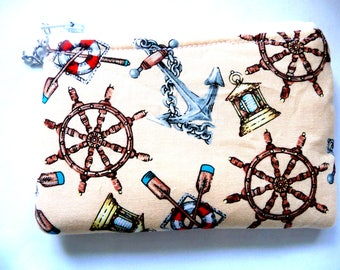 New coin pouch with anchors made from sea fabric