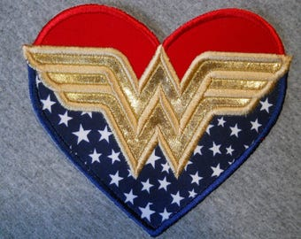 Made to order ~ Wonder Lady  (3 sizes) iron on or sew on applique patch
