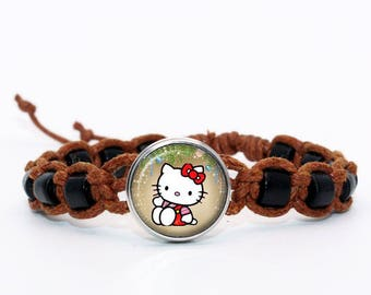 Brown shambala bracelet hello kitty