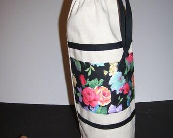LINEN WINE BAGS - floral wine bags - floral wine totes - wine gift bags - wine tote bags - linen wine bags - linen wine gift bags