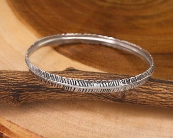Silver Feather Bracelet, Minimalist Bracelet, Simple Bracelet, Everyday Bracelet, Silver Bracelet BBR419-S7