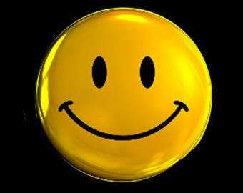 Have a Nice Day!! SMILEY FACE button!! Groovy 70s, baby!!