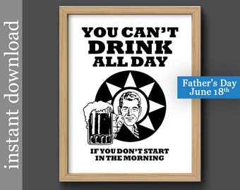 Beer Printable, Father's Day gift, beer wall art, beer print, beer download, dorm poster, beer man cave, beer gift for him, bar wall art